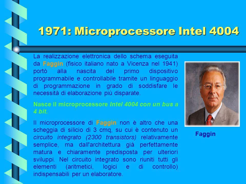 1971: Microprocessore Intel 4004