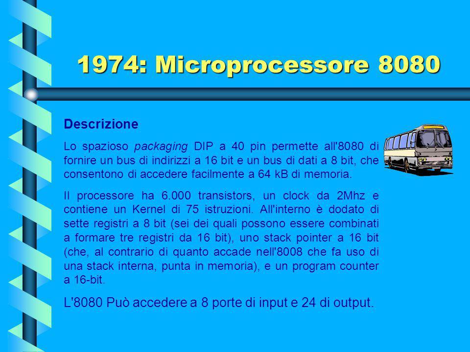 1974: Microprocessore 8080 Descrizione