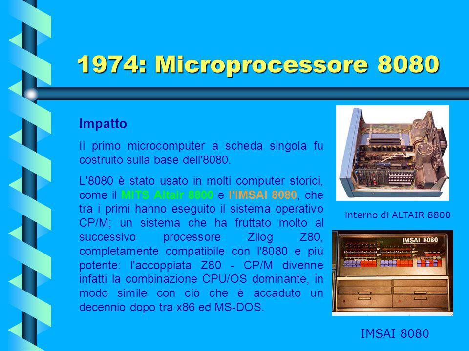 1974: Microprocessore 8080 Impatto