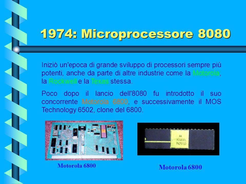 1974: Microprocessore 8080