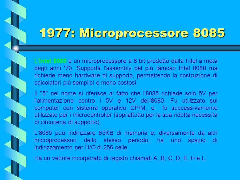 1977: Microprocessore 8085