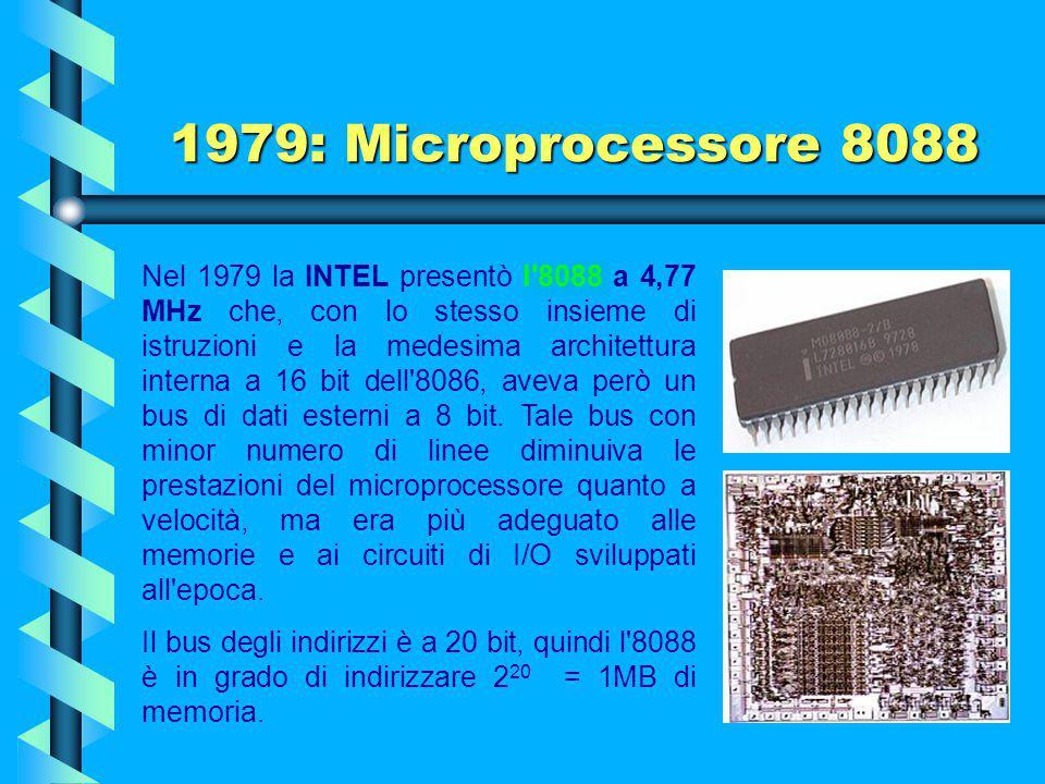 1979: Microprocessore 8088