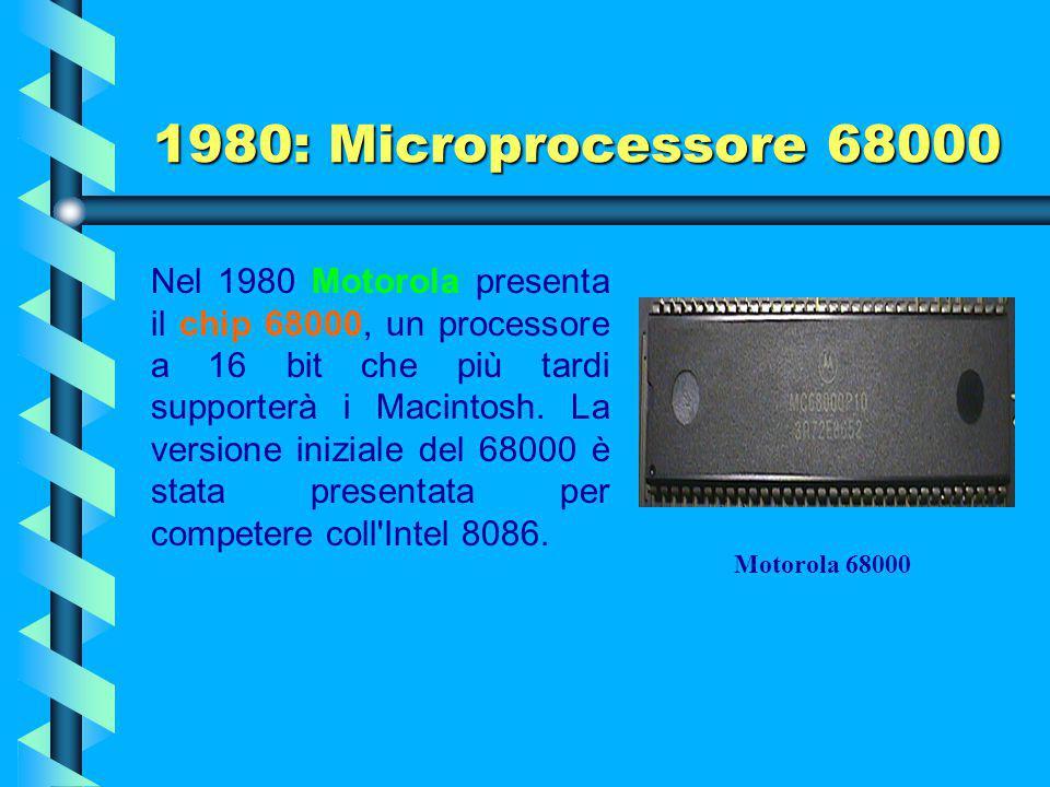 1980: Microprocessore 68000