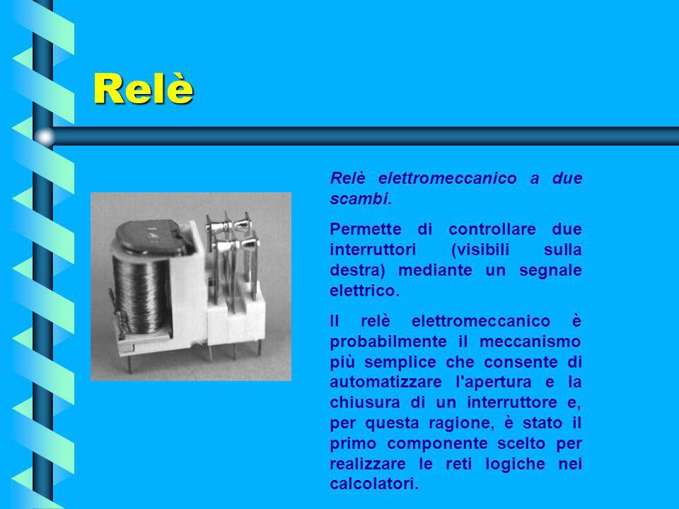 Relè Relè elettromeccanico a due scambi.