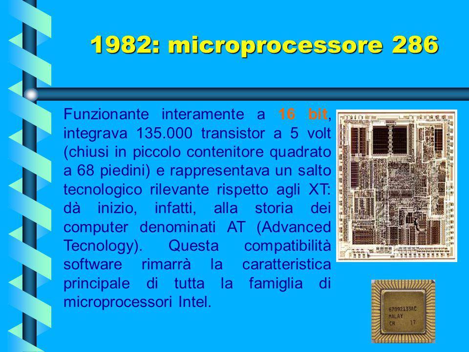 1982: microprocessore 286