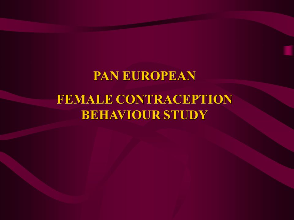 FEMALE CONTRACEPTION BEHAVIOUR STUDY