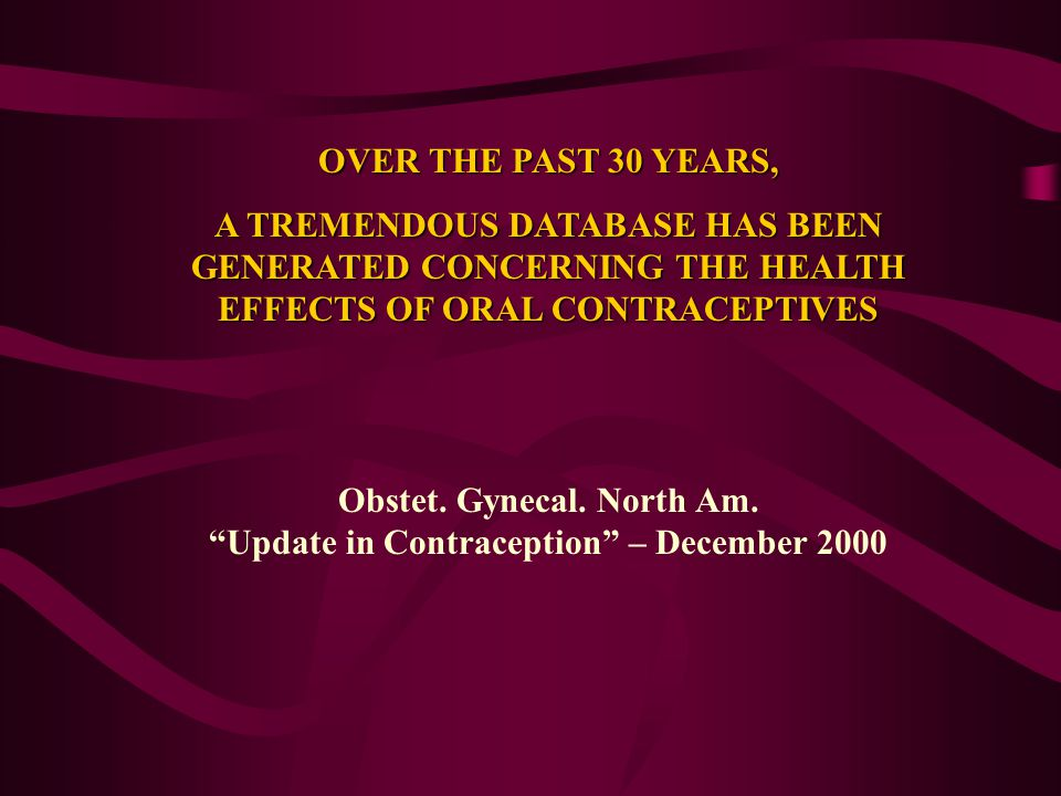 Obstet. Gynecal. North Am. Update in Contraception – December 2000