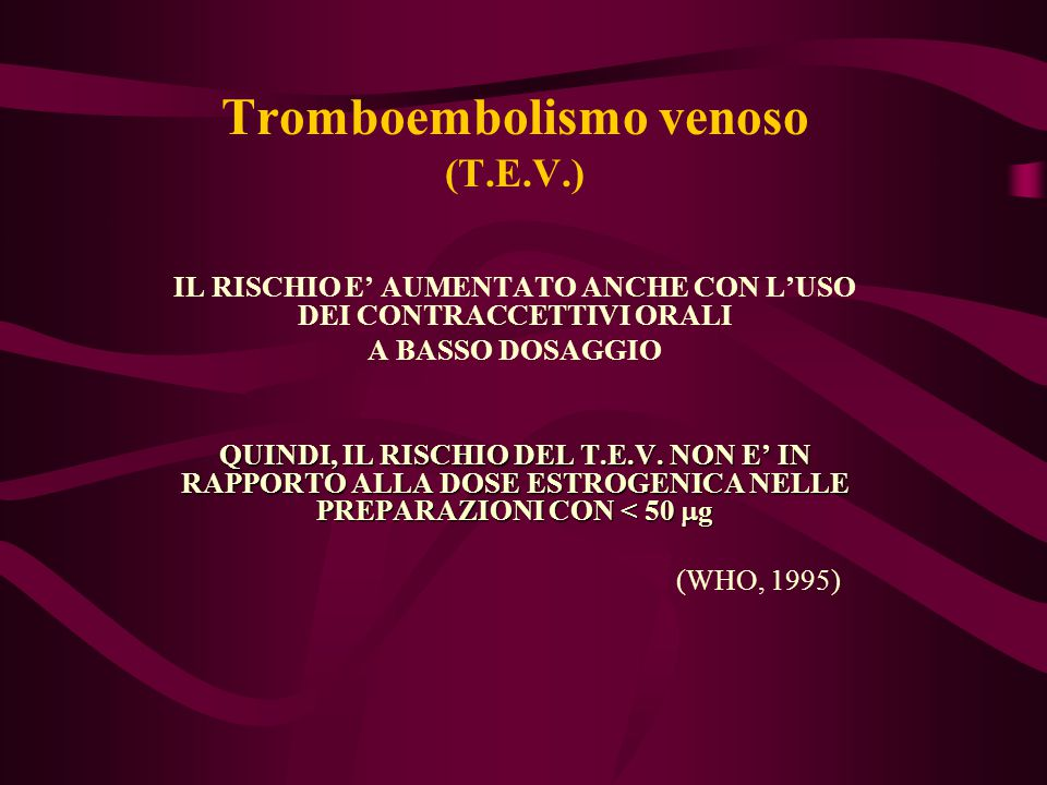 Tromboembolismo venoso (T.E.V.)