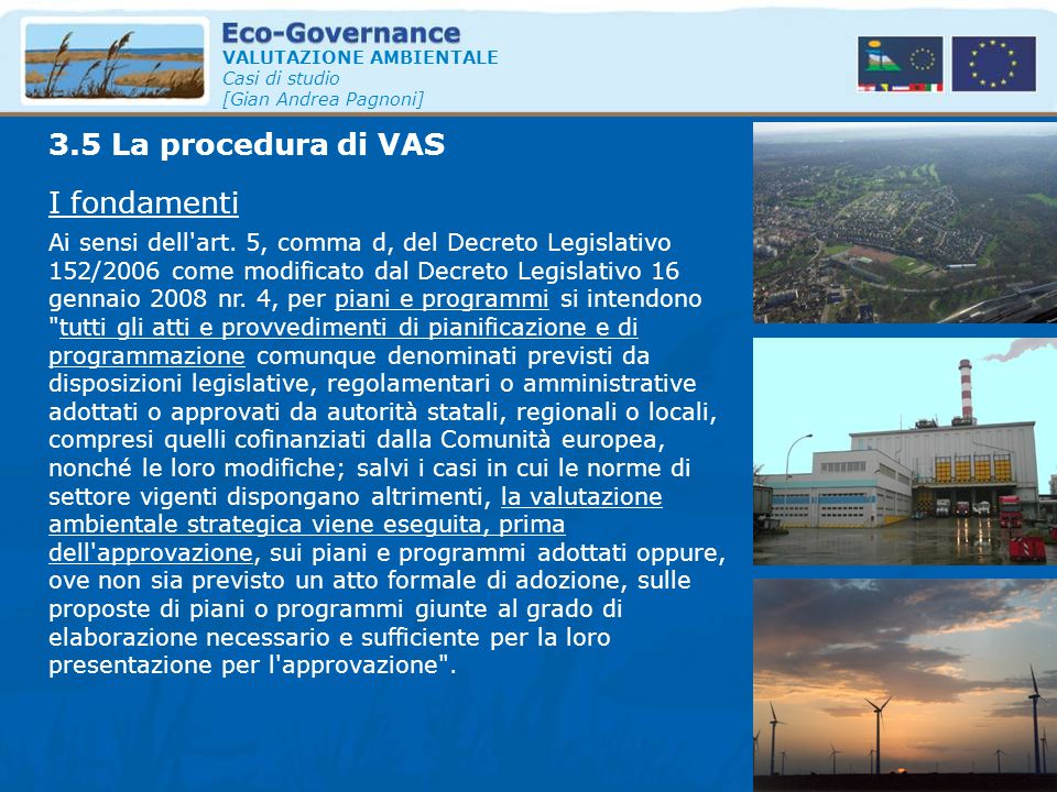3.5 La procedura di VAS I fondamenti