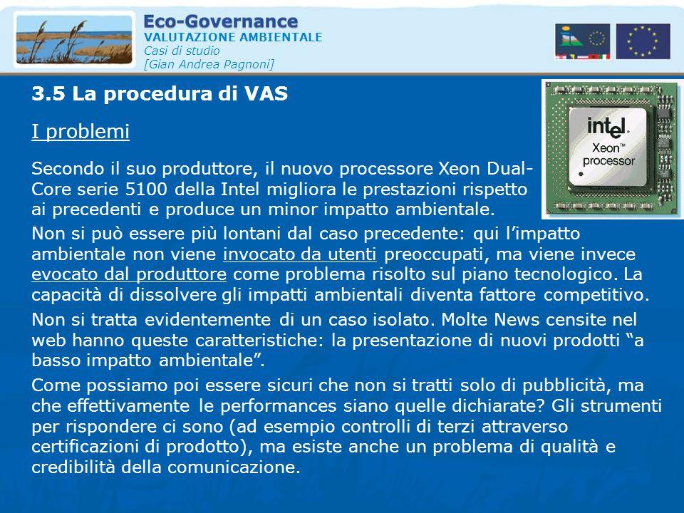 3.5 La procedura di VAS I problemi
