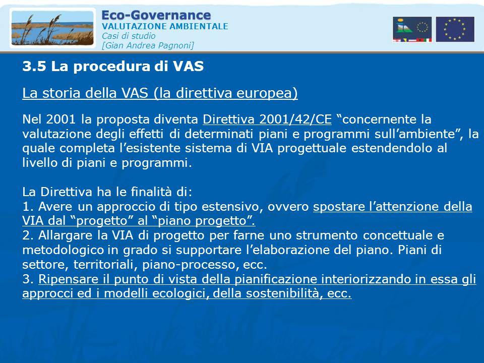 La storia della VAS (la direttiva europea)