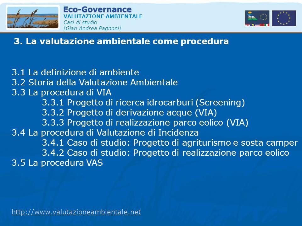 3. La valutazione ambientale come procedura