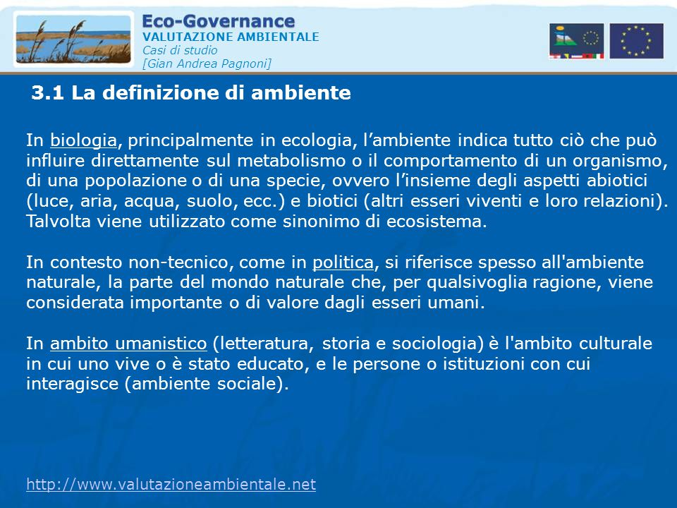 3.1 La definizione di ambiente