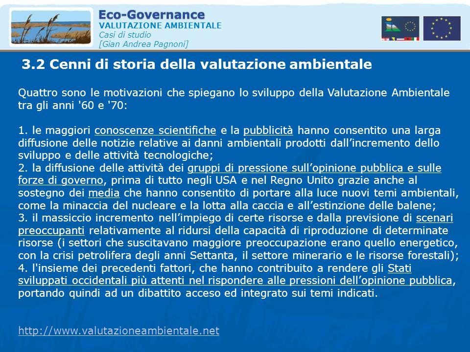 3.2 Cenni di storia della valutazione ambientale