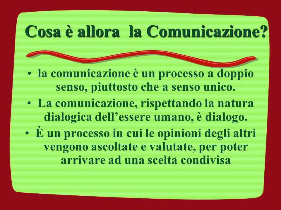 Cosa è allora la Comunicazione
