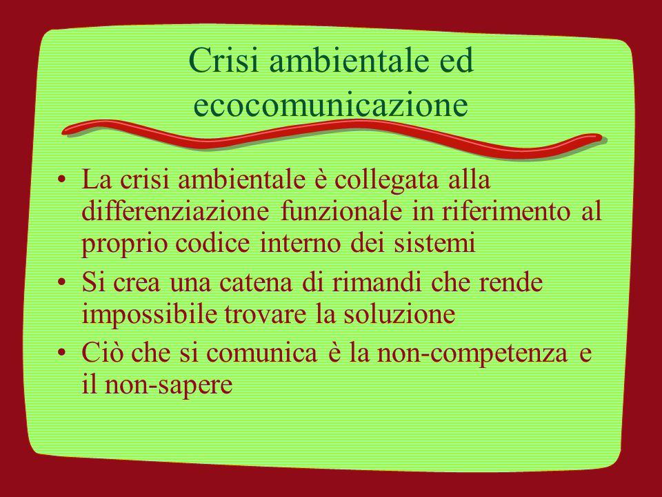 Crisi ambientale ed ecocomunicazione