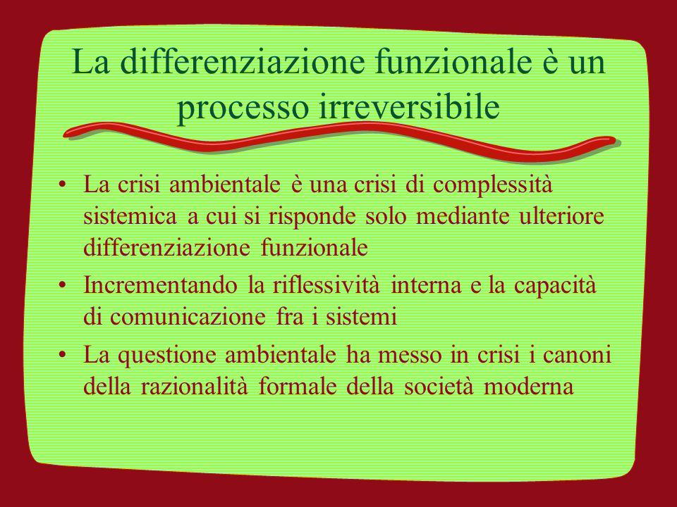 La differenziazione funzionale è un processo irreversibile