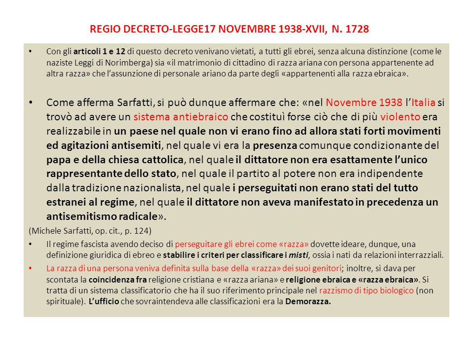 REGIO DECRETO-LEGGE17 novembre 1938-XVII, n. 1728