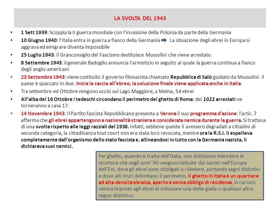 LA SVOLTA DEL 1943 1 Sett 1939: Scoppia la II guerra mondiale con l'invasione della Polonia da parte della Germania.