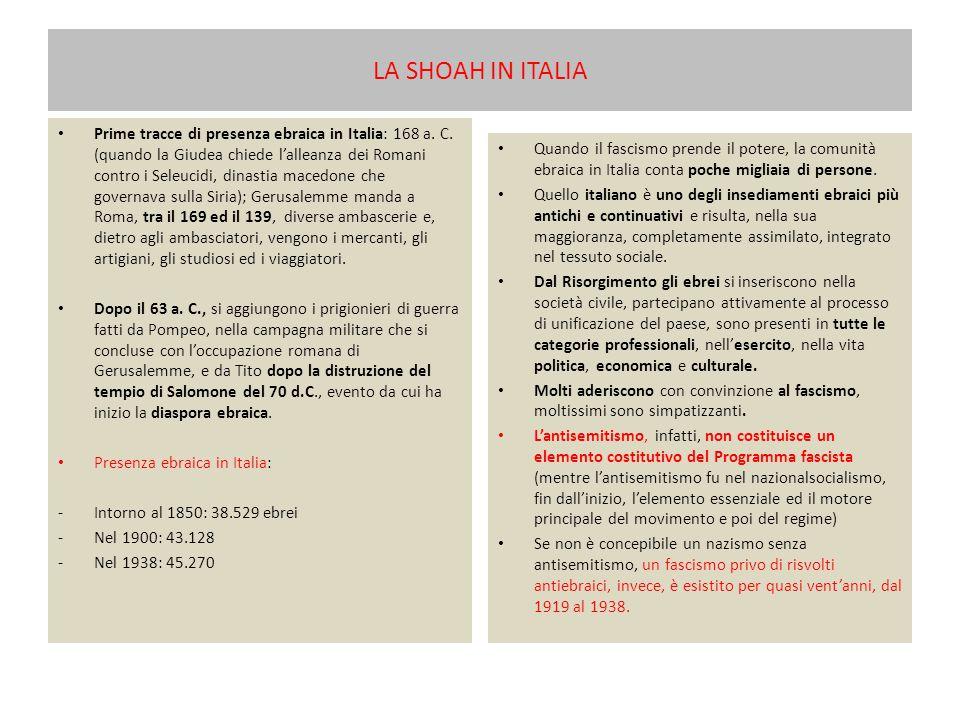 LA SHOAH IN ITALIA