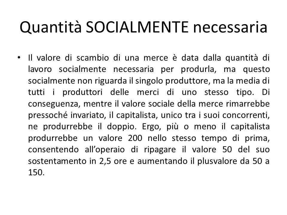 Quantità SOCIALMENTE necessaria