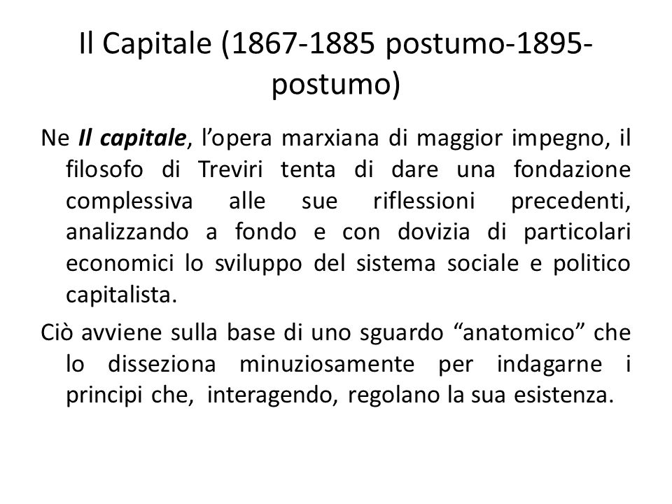 Il Capitale (1867-1885 postumo-1895-postumo)