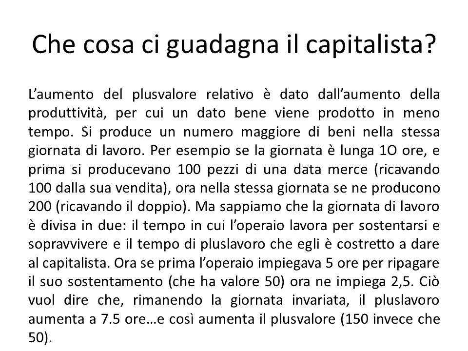 Che cosa ci guadagna il capitalista