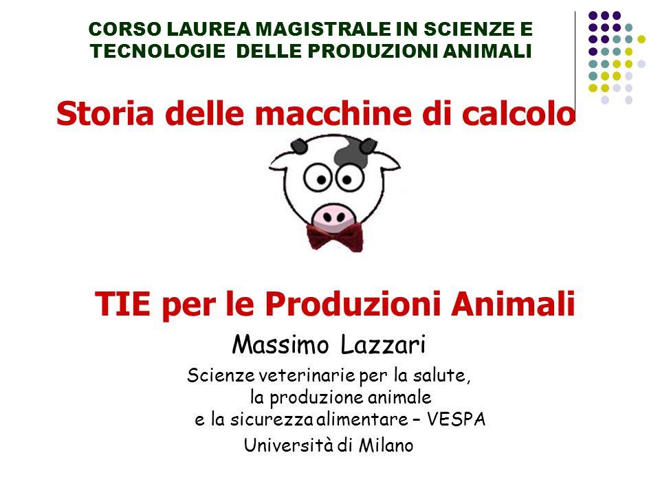 Storia delle macchine di calcolo TIE per le Produzioni Animali