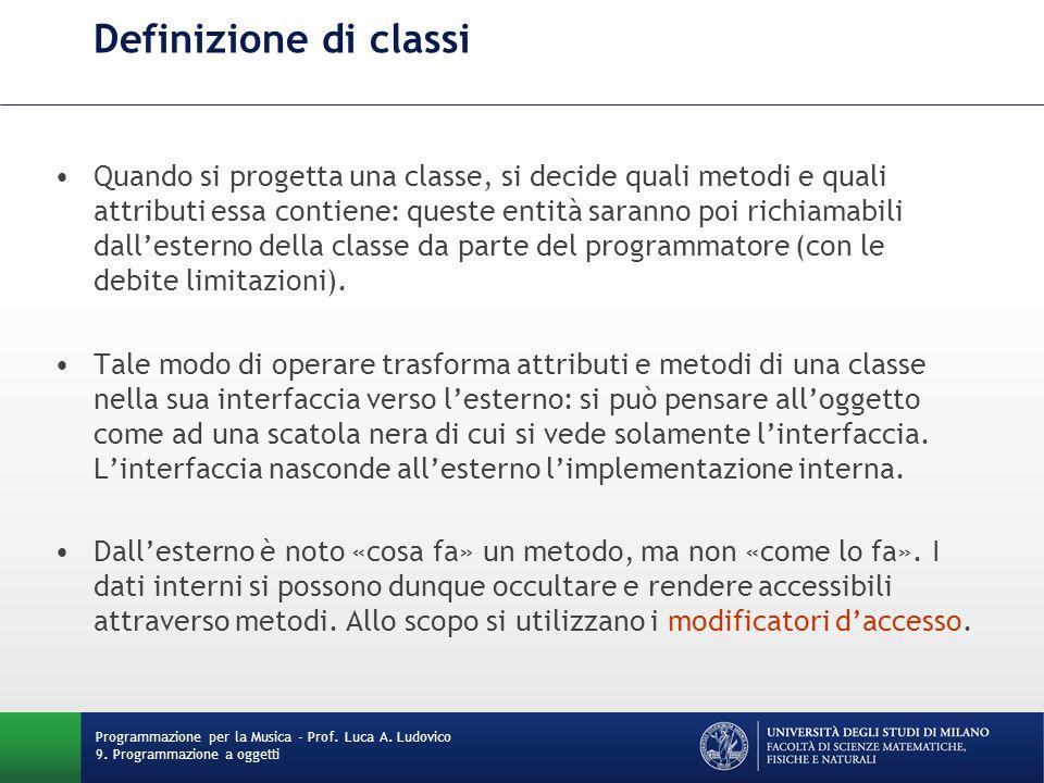 Definizione di classi