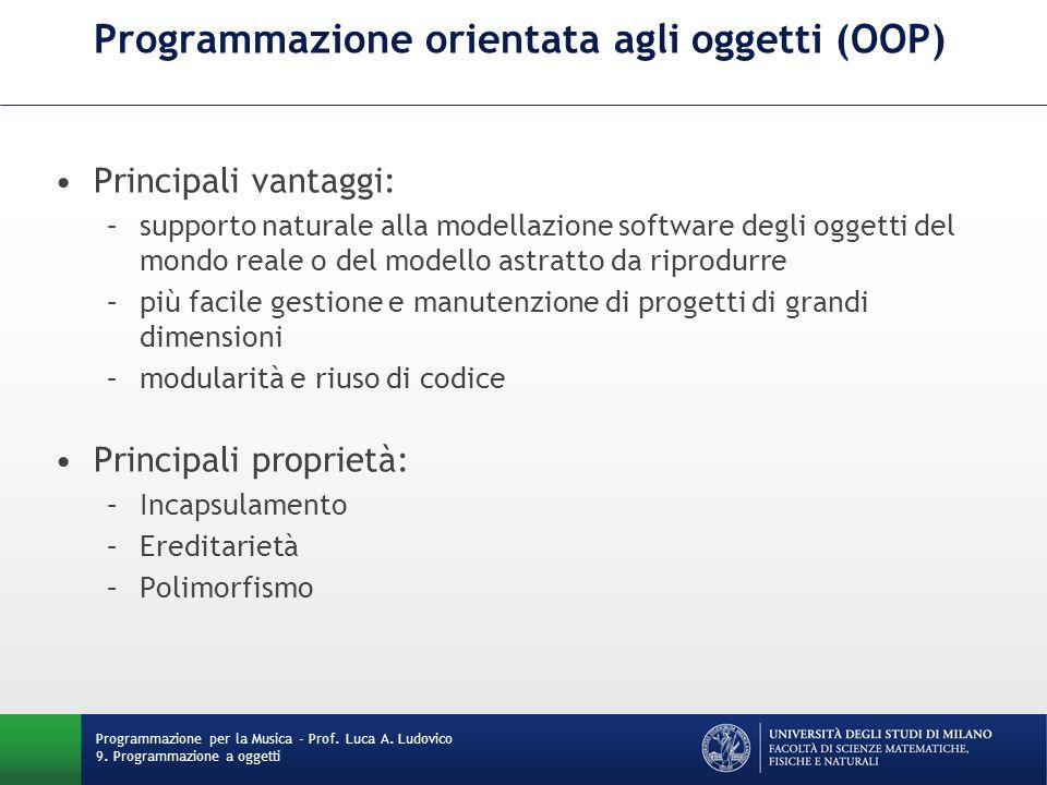 Programmazione orientata agli oggetti (OOP)