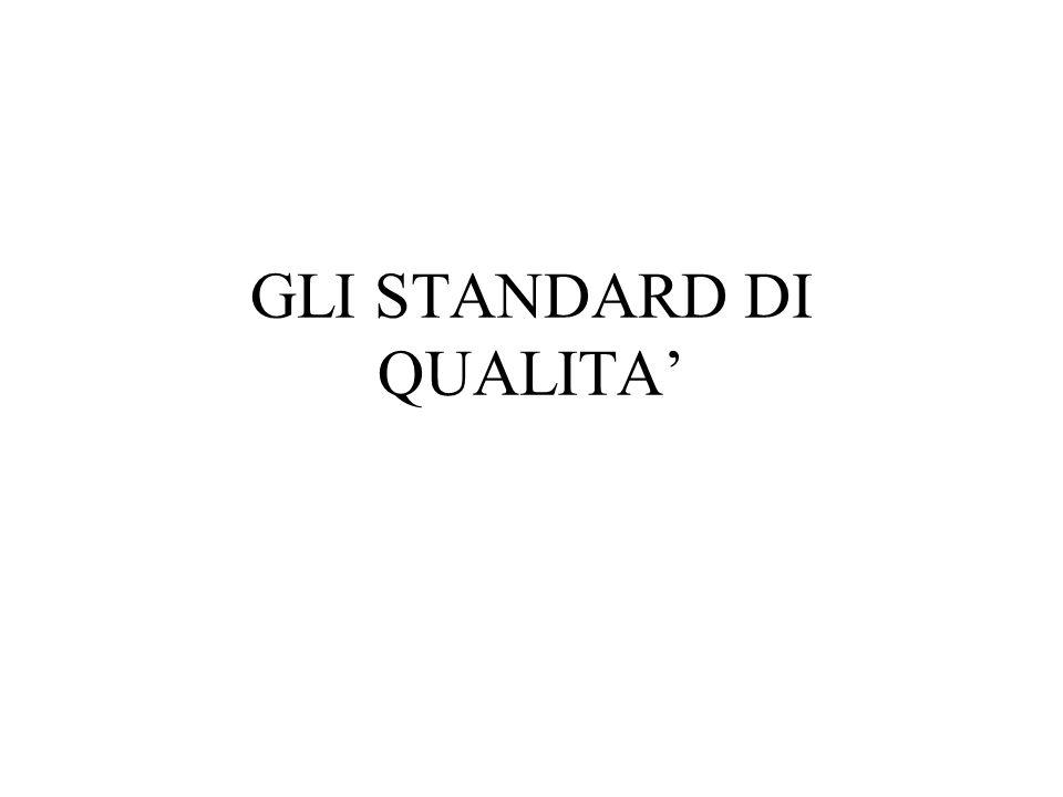 GLI STANDARD DI QUALITA'