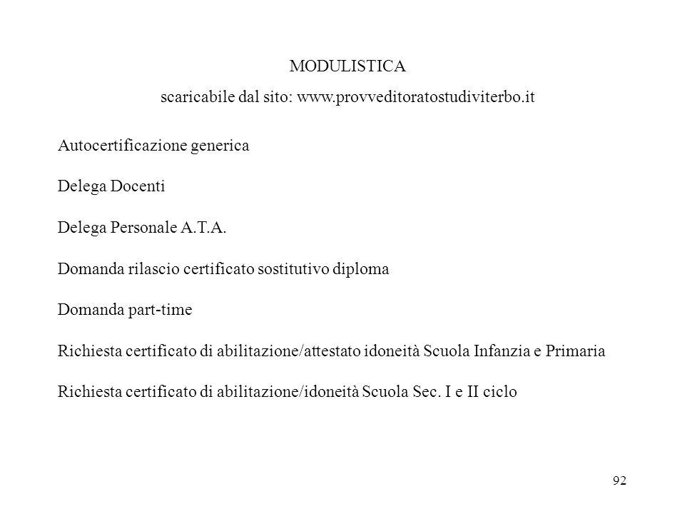 scaricabile dal sito: www.provveditoratostudiviterbo.it