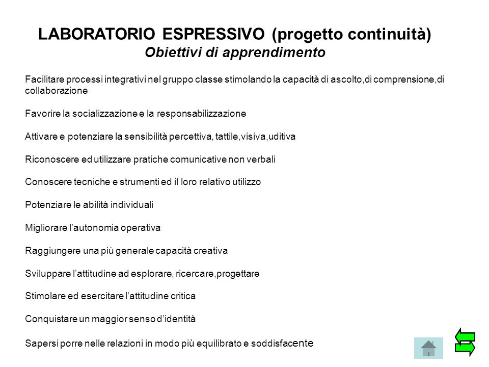 LABORATORIO ESPRESSIVO (progetto continuità)