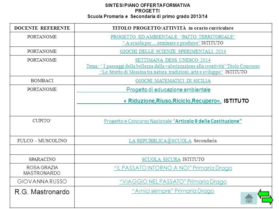 R.G. Mastronardo Progetto di educazione ambientale