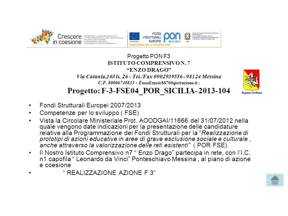 Fondi Strutturali Europei 2007/2013 Competenze per lo sviluppo ( FSE)