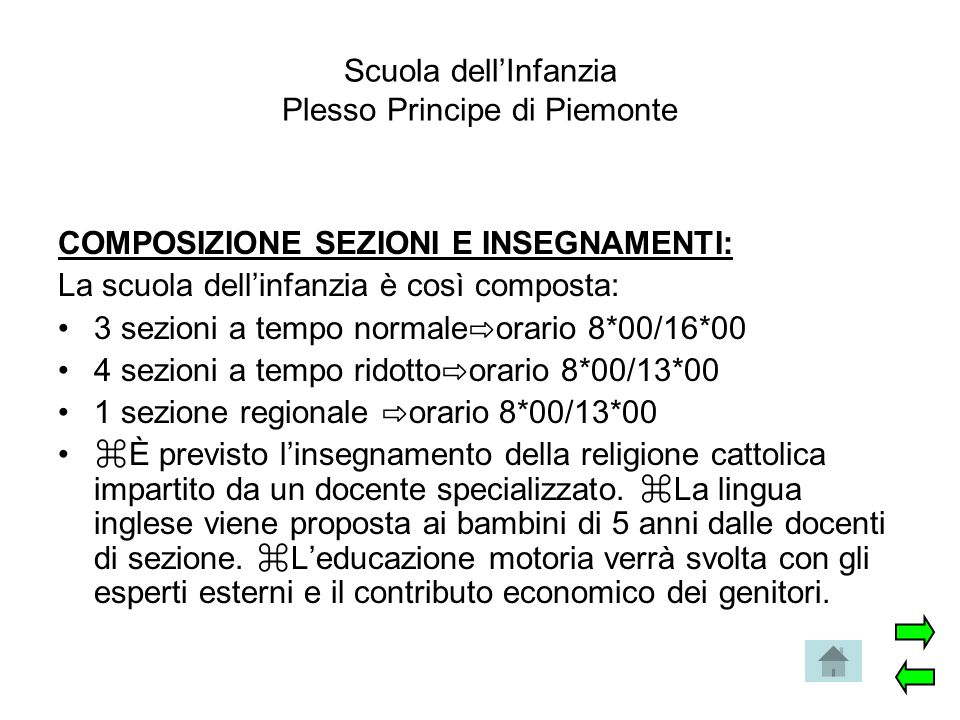 Scuola dell'Infanzia Plesso Principe di Piemonte