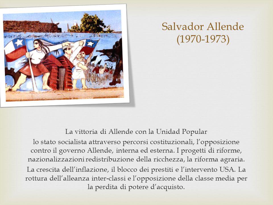 La vittoria di Allende con la Unidad Popular