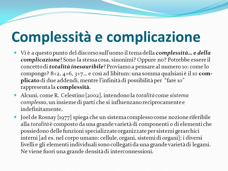Complessità e complicazione