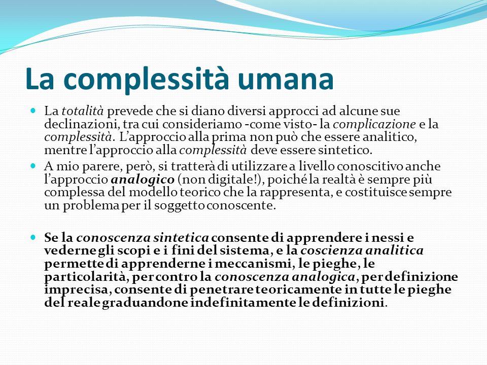 La complessità umana