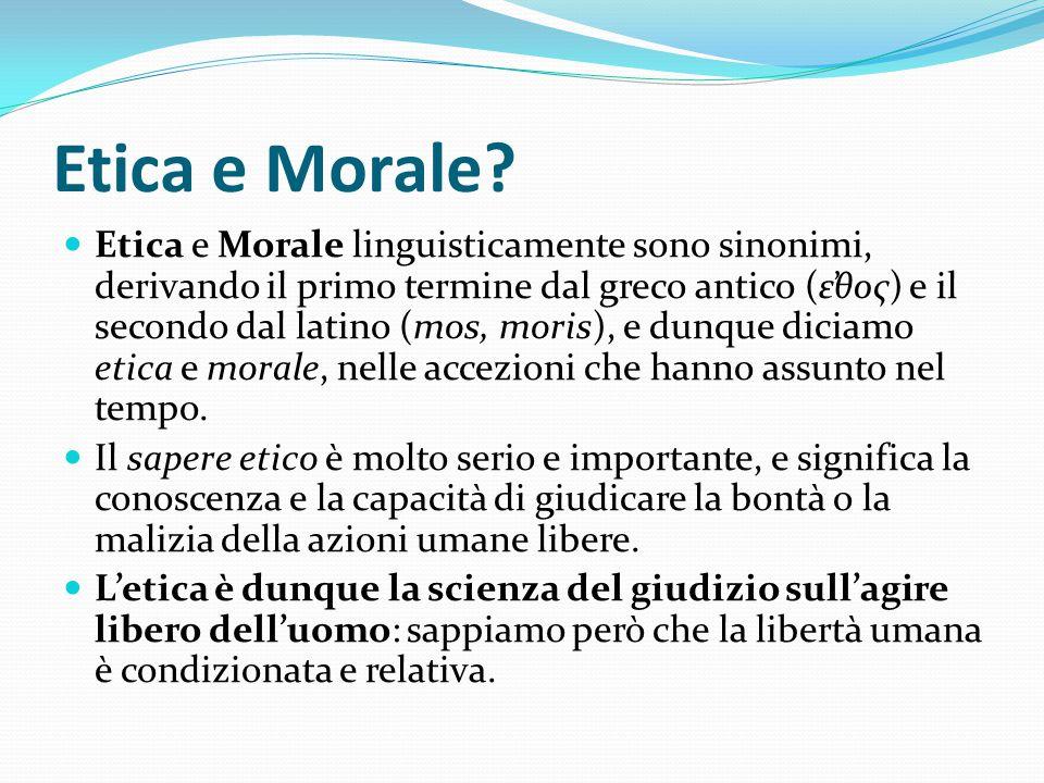 Etica e Morale