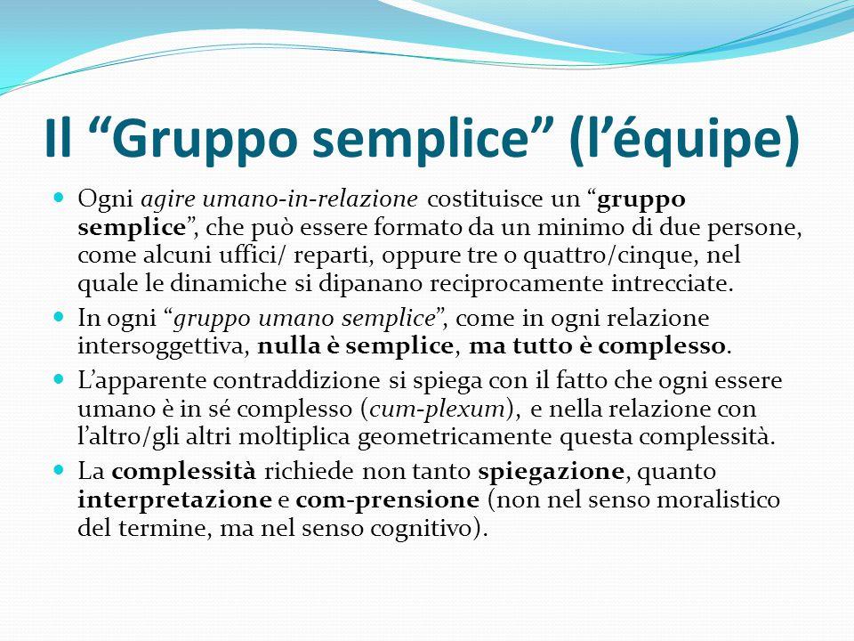 Il Gruppo semplice (l'équipe)