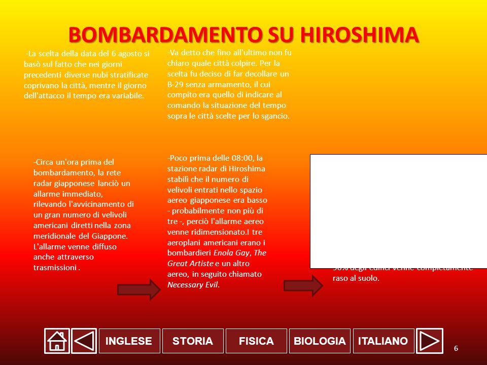 BOMBARDAMENTO SU HIROSHIMA