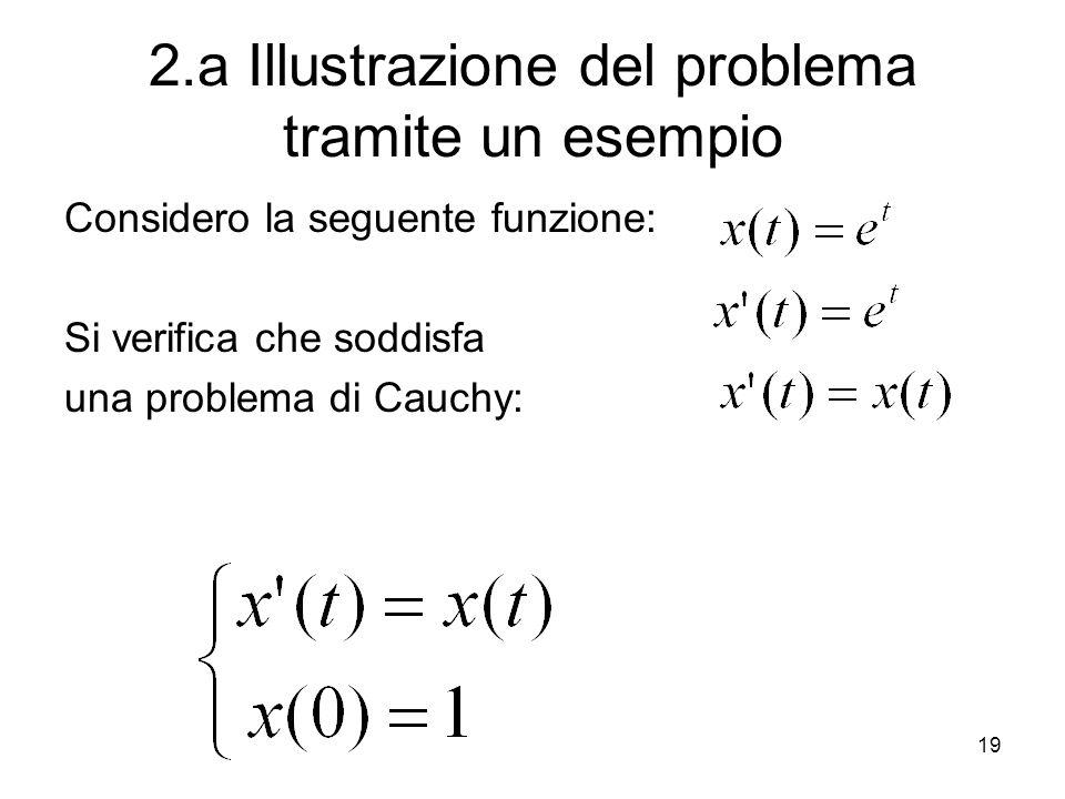 2.a Illustrazione del problema tramite un esempio