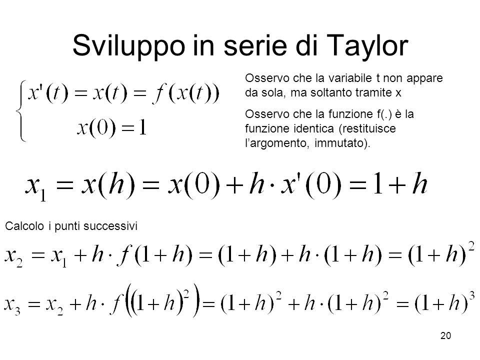 Sviluppo in serie di Taylor