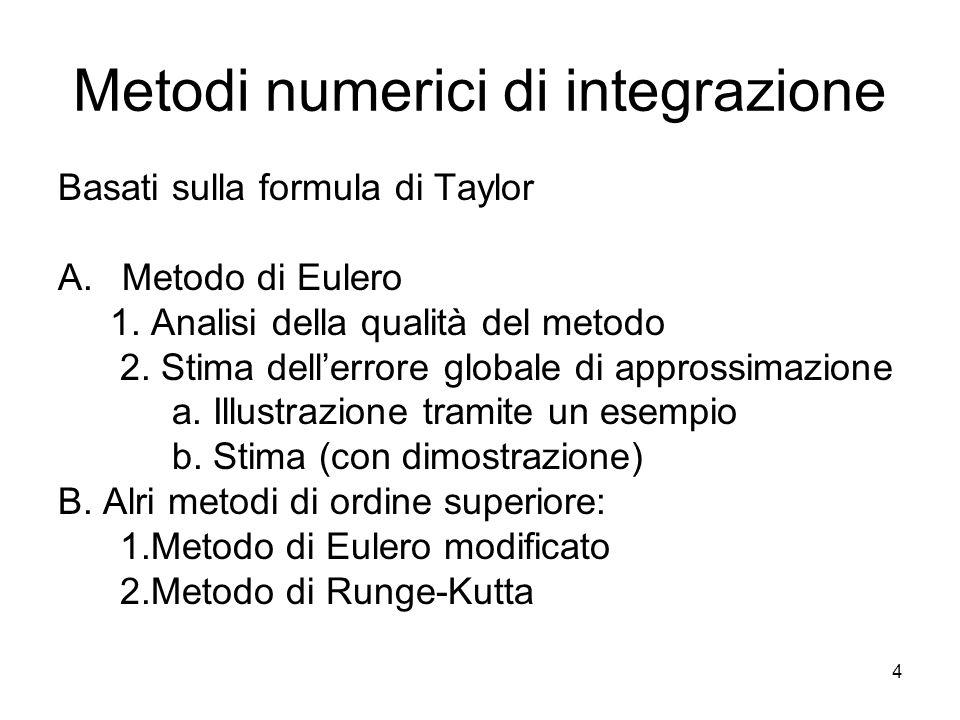 Metodi numerici di integrazione