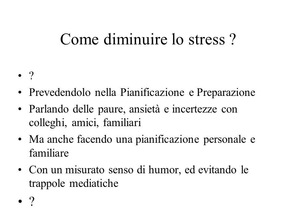 Come diminuire lo stress