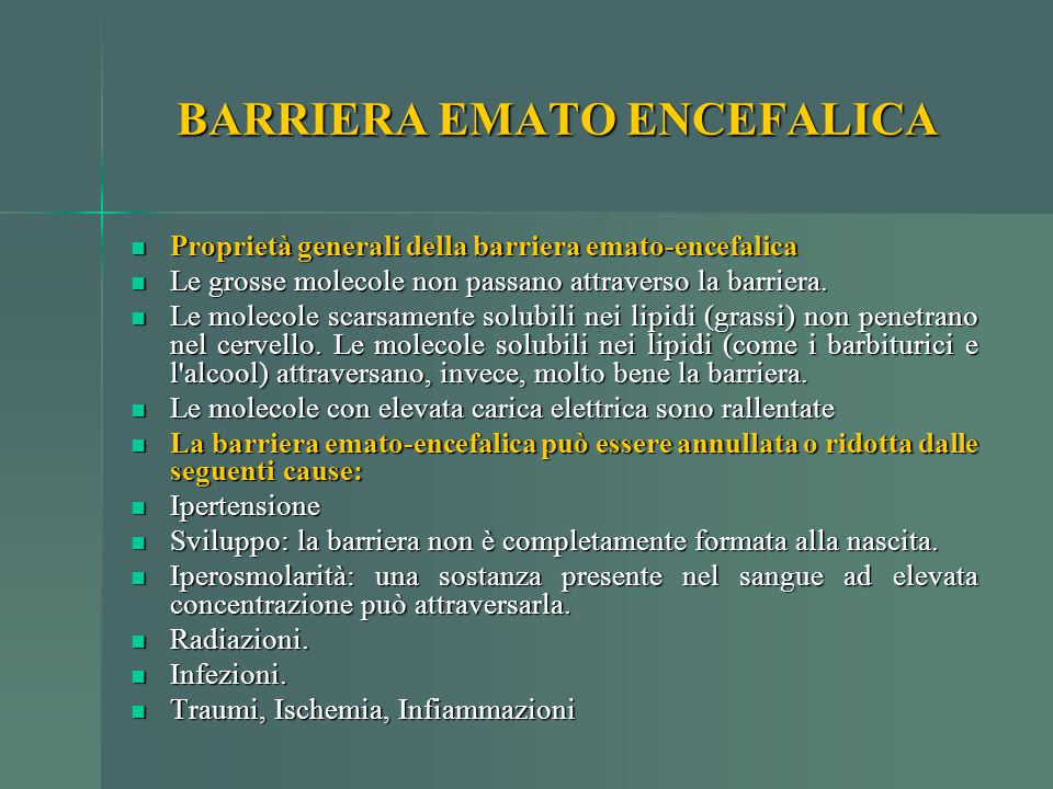 BARRIERA EMATO ENCEFALICA