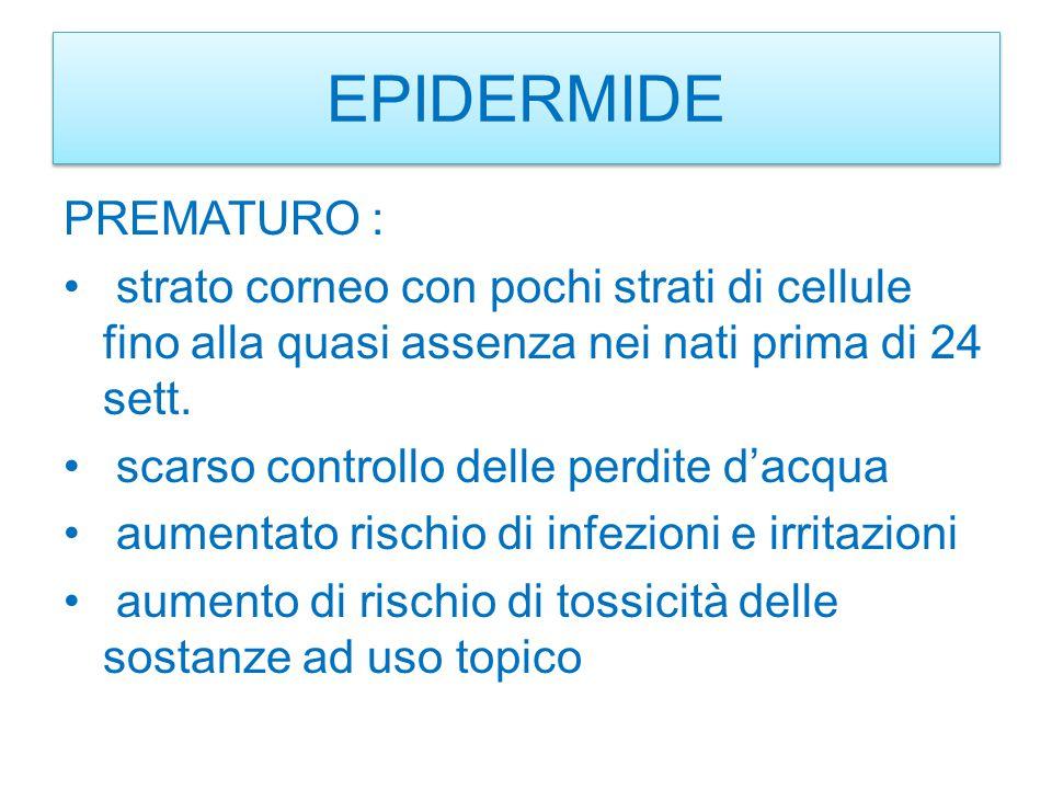 EPIDERMIDE PREMATURO :
