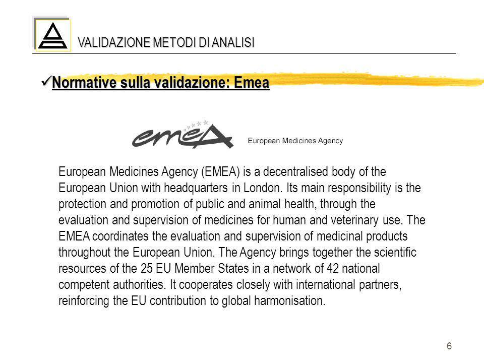 Normative sulla validazione: Emea