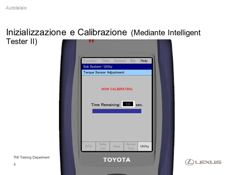 Inizializzazione e Calibrazione (Mediante Intelligent Tester II)